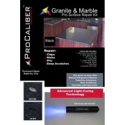 Granite & Marble Chip Repair Kit - PRO Black Gel LCA