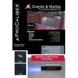 Granite & Marble Chip Repair Kit - PRO Black Gel LCA